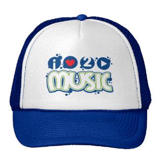 Amo la línea de productos de la música de 2 juegos gorras de camionero