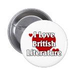 Amo la literatura británica pins