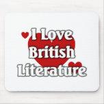 Amo la literatura británica tapete de raton