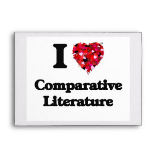 Amo la literatura comparativa sobre