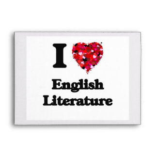 Amo la literatura inglesa sobres