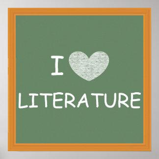 Amo la literatura póster