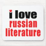Amo la literatura rusa alfombrillas de raton