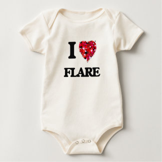 Amo la llamarada traje de bebé