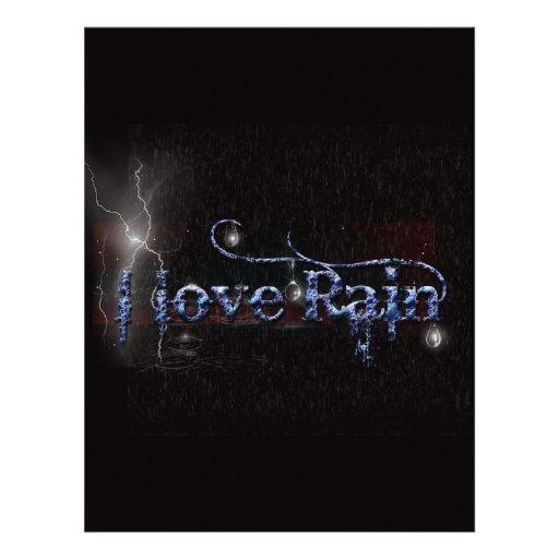 Amo la lluvia 2 membrete a diseño