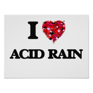 Amo la lluvia ácida póster
