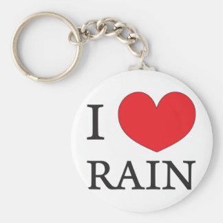 amo la lluvia llavero redondo tipo pin