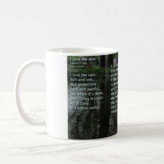 Amo la lluvia taza clásica