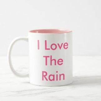 Amo la lluvia taza dos tonos