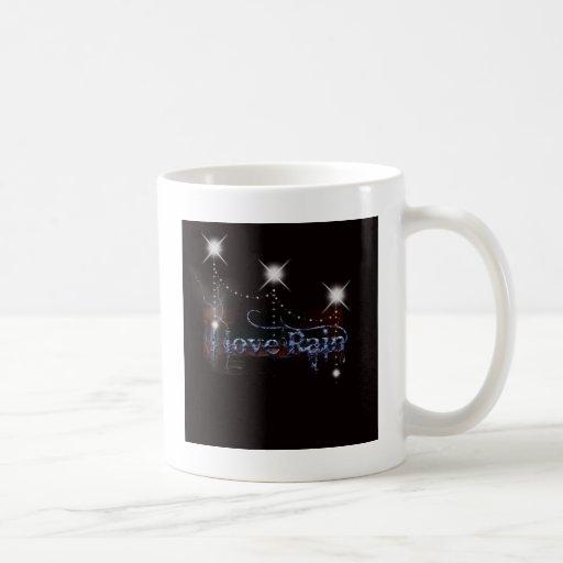 Amo la lluvia tazas de café