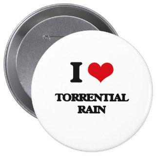 Amo la lluvia torrencial chapa redonda 10 cm