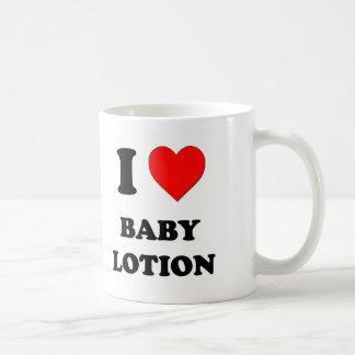 Amo la loción del bebé tazas
