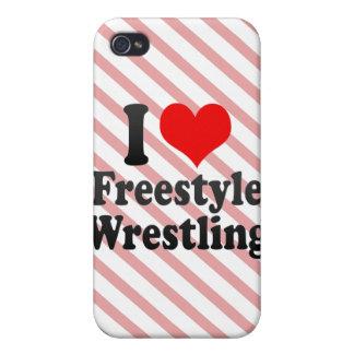 Amo la lucha de estilo libre iPhone 4 funda