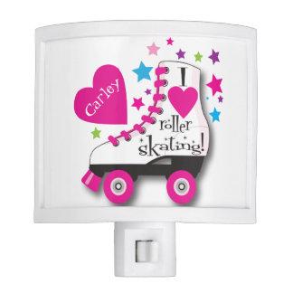 Amo la luz de la noche del patinaje sobre ruedas lámparas de noche