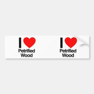 amo la madera aterrorizada etiqueta de parachoque