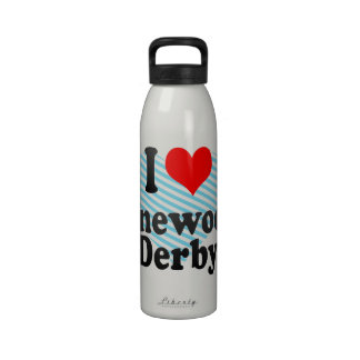 Amo la madera de pino Derby Botellas De Agua Reutilizables
