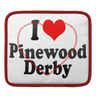 Amo la madera de pino Derby Funda Para iPads
