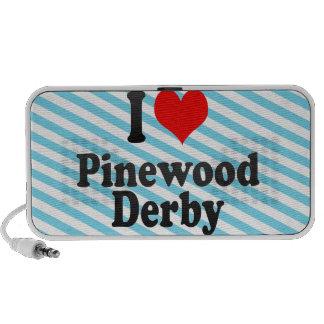Amo la madera de pino Derby Altavoz De Viaje