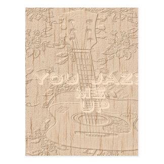 Amo la madera Hakuna marrón que va Matata Postal