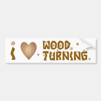 Amo la madera que da vuelta a la pegatina para el  pegatina para auto