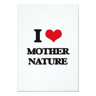 """Amo la madre naturaleza invitación 3.5"""" x 5"""""""