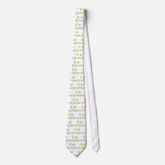 Amo la magdalena corbatas personalizadas