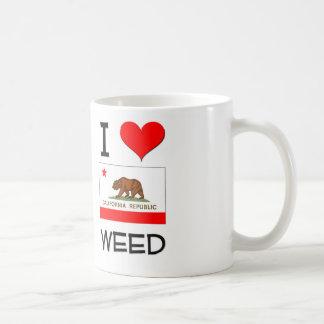 Amo la MALA HIERBA California Tazas De Café