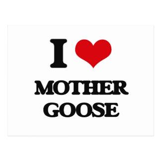 Amo la mamá ganso postal
