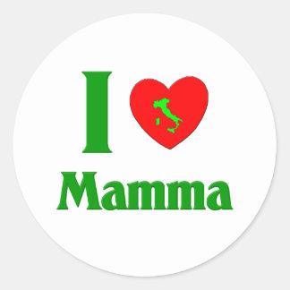 Amo la mama pegatinas redondas