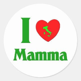 Amo la mama etiquetas redondas