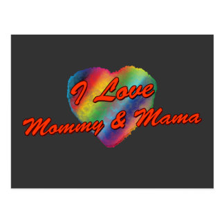 Amo la mamá y a la mamá postales