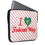 Amo la manera federal, Washington Mangas Portátiles
