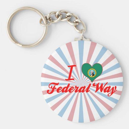 Amo la manera federal, Washington Llavero