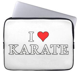 Amo la manga del karate funda ordendadores