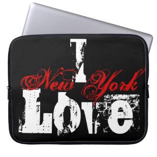Amo la manga del ordenador portátil de Nueva York Fundas Computadoras