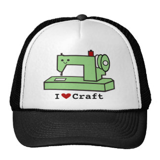 Amo la máquina de coser de Kawaii del arte Gorras De Camionero