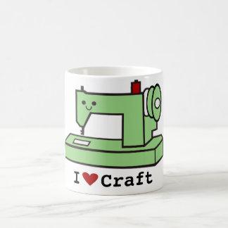 Amo la máquina de coser de Kawaii del arte Taza De Café