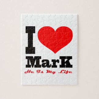 Amo la marca. Él es mi vida Puzzle