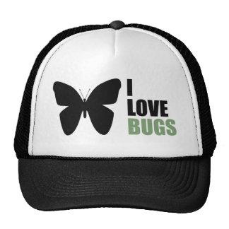 Amo la mariposa del amante del insecto de los inse gorras de camionero
