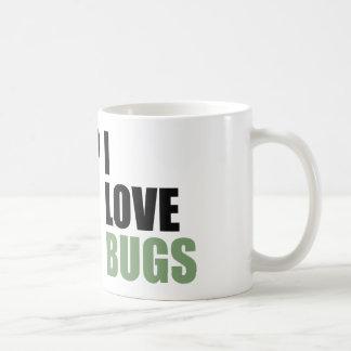 Amo la mariposa del amante del insecto de los inse taza de café