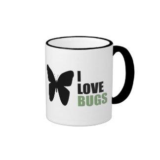 Amo la mariposa del amante del insecto de los inse tazas