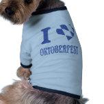 Amo la más oktoberfest camisa de mascota