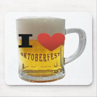 Amo la más oktoberfest, cerveza-taza alfombrillas de ratones