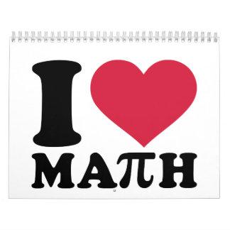 Amo la matemáticas pi calendario