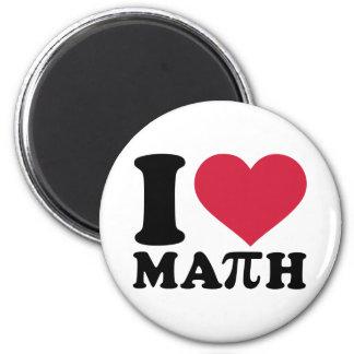 Amo la matemáticas pi imán de frigorífico