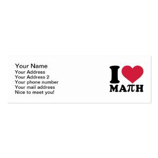 Amo la matemáticas pi plantillas de tarjetas personales