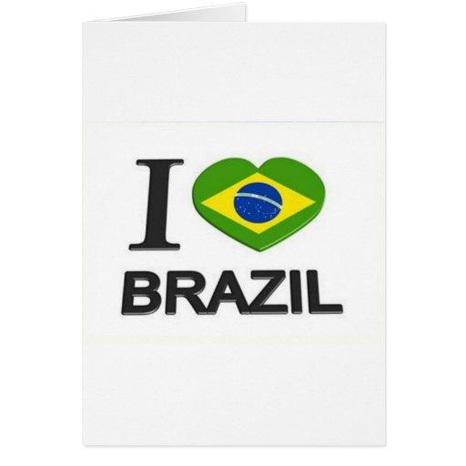 Amo la materia del Brasil Felicitacion