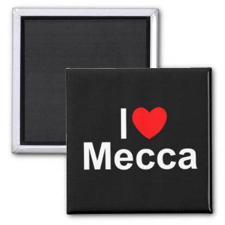 Amo La Meca (del corazón) Imán Cuadrado