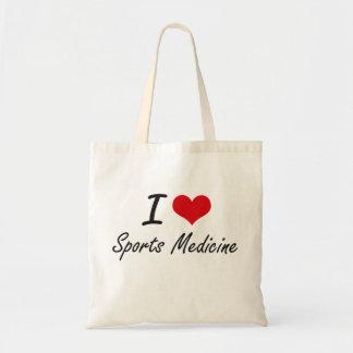 Amo la medicina de deportes bolsas de mano