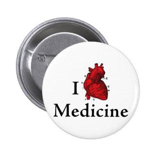 Amo la medicina pin redondo 5 cm